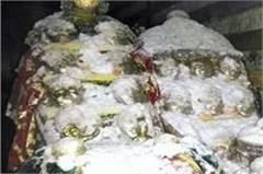 temple  god naag dhumbal  than  rain  snowfall