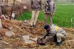 here police again destroyed millions of raw alcohol  2 arrested