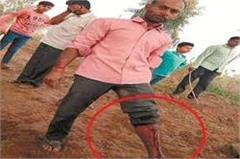 haryana  farmer  stick  contractor  police
