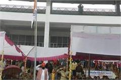 bakshish singh virk hoisted the national flag at sirsa