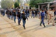flag marches in rewari