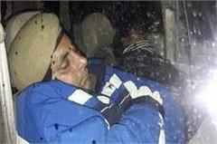 punjab police employee sleeping