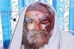 robbers attack on monk slept into temple fled with 70 thousand rupee