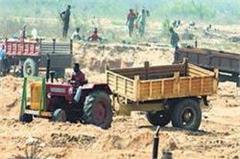 illegal sand mining mafia crack 12 seized truck arrested driver