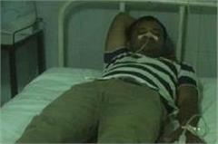 man swallowed poison in front of police