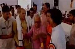 gs bisen and bodh singh bhagat argue on stage