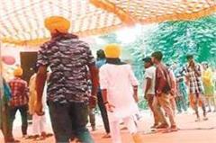 sikh organizations shout slogans by swearing