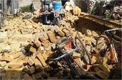 quarters wall collapse half dozen laborers injured