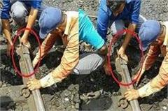 large rail accident in muzaffarnagar broken railway near station
