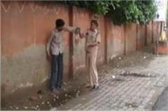 another new form of up police  on duty drunk  drinks beating  video viral