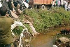tanker hit the car with a heavy collision  painful death of 8