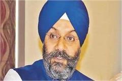 manjit singh chairman of delhi sikh gurdwara management committee left