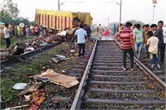 a truck collided with the trivandrum rajdhani express