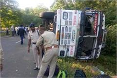 police bus accident in sihor