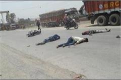 muzaffarnagar truck kills bike riders 3 dead