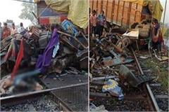 uncontrollable truck collides with rajdhani express driver dies