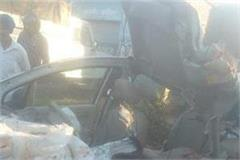terrible accident tremendous fight of a truck car