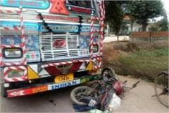 truck crashes bikes death on 3 occasions