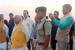 cm manohar lal khattar visits kmp expressway