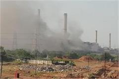 fire in obra thermal power project