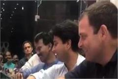 rahul gandhi eat ice cream in shop
