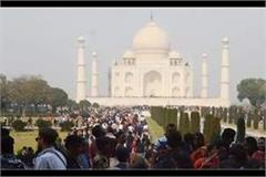 unrest in the taj mahal tourists can not even enter the ticket