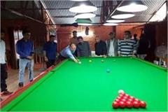 snooker competition starts in sundernagar 60 players taking part