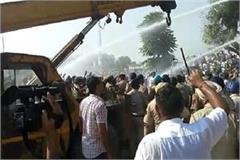 police clashes with roadways employees lathi charge