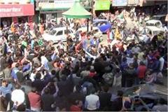wheel jam on murder of child clash between protesters and police