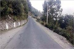 missing parapit and crash barrier on chamba tisa road