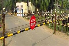 tractor shatabdi express trapped in railway crossing stopped