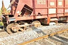 two coaches of the goods derailed by track in murena traffic affected