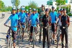 army s cycle rally from ladakh arrives damatal