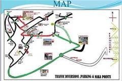 the president will visit tanda this will be the traffic plan