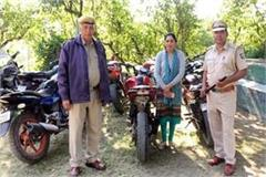 disclosure by bike theft police recovered 8 bikes