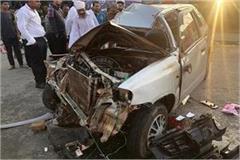 hoshiarpur fierce battle in the car truck 1 killed