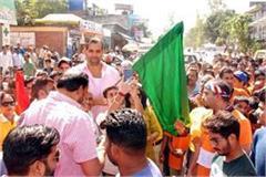 kahli gave green flag to mini marathon of divyang children