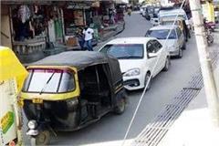 traffic jam in manali