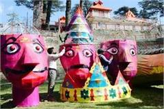 cm jairam will burn such a 35 feet effigy of ravana in jakhu