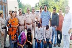 sex racket busted in una 4 arrested inculding 2 girls