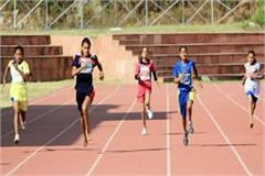 hamirpur s pooja in 400 mandi s sakshi first in 100 meter race