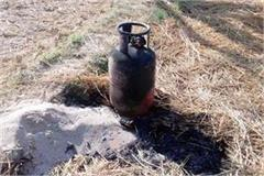 fire in gas cylinder big accident defers