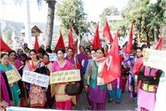 protest in chamba pre nursery school status for anganwadi