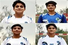 these 4 players selected in asian women handball