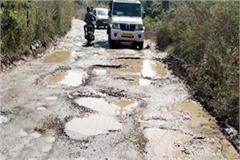 road connecting new nalagarh filled with pits disturbed the driver