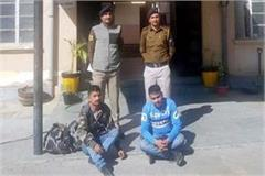 robbery from napali on bus stand 2 arrested