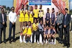 hamirpur captured on girl s overall trophy