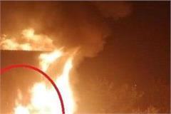 a fierce fire in shops in asaram ashram of paonta sahib