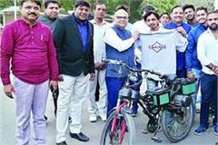 youth made electric bicycle