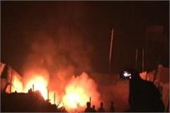 fire from falling fireworks in kabbadi s shop in gohana